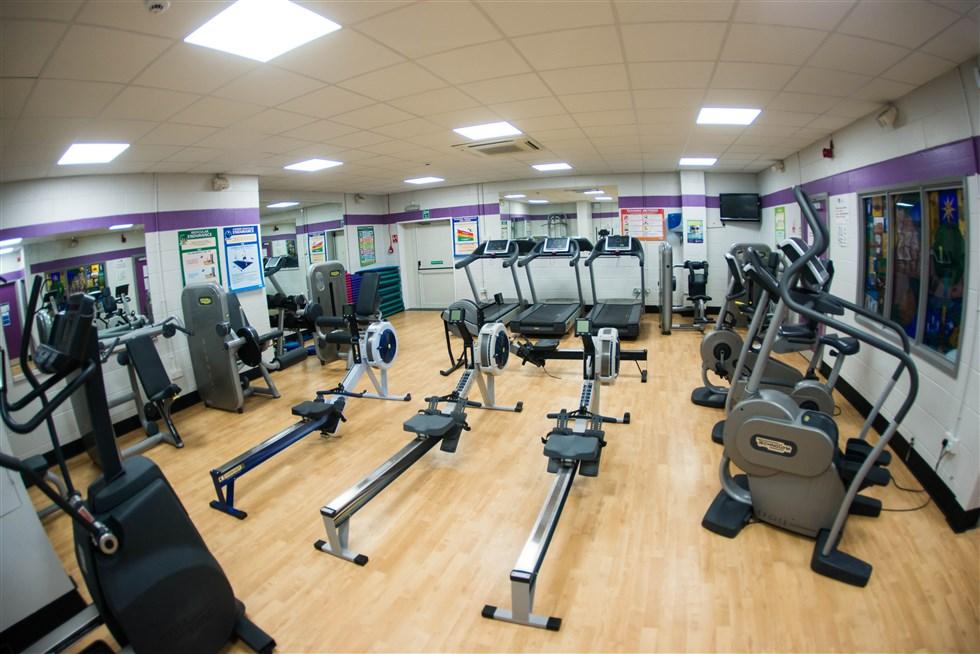 The gymnasium at castle view enterprise academy