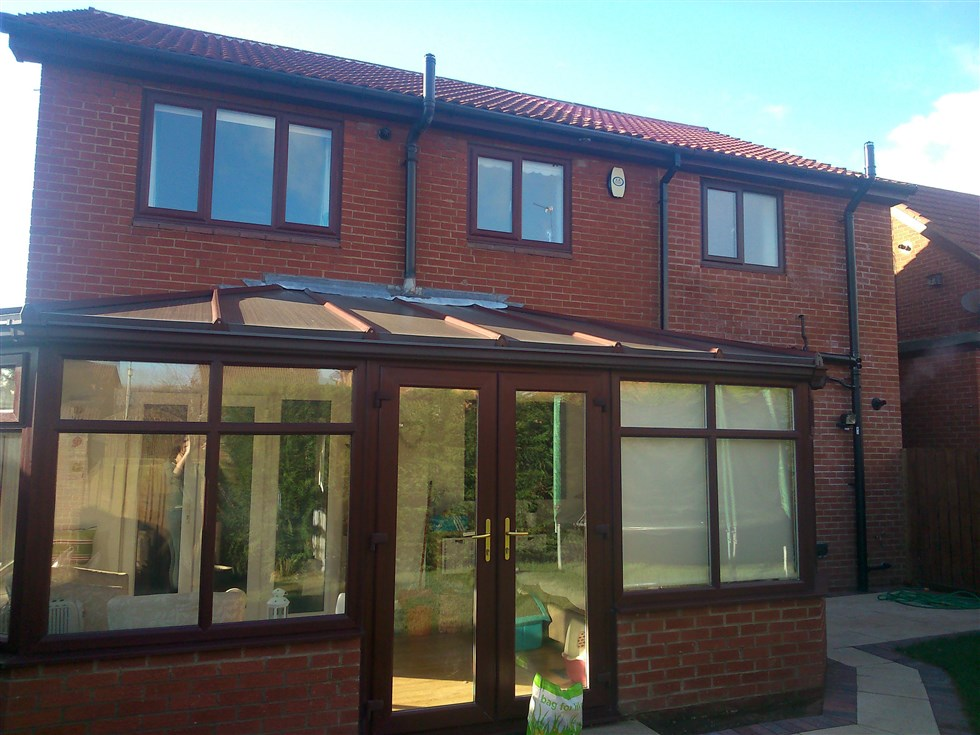 Over garage extension with 2 storey extension at back of house. Also garage conversion. & Over garage extension with 2 storey extension at back of house. Also ...