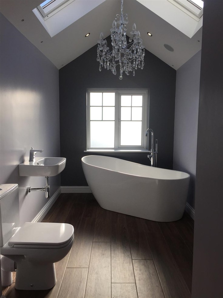 Amazing Old Bathroom Knock Out. New Extension Creating Larger Room. New Bathroom  Fitted.