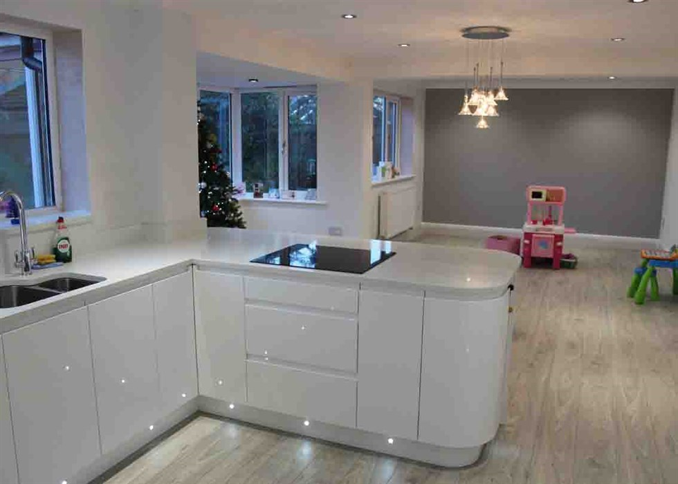 3 Separate Rooms Made Into One Making A Better Living Space More Suited To The Familys Needs