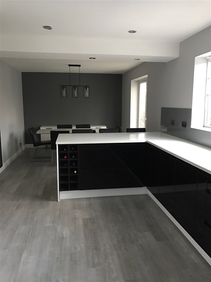 Over Garage Extension Kitchen Knock Through Cm Projects