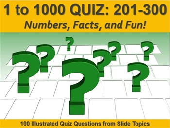 1 to 1000 Quiz: 201 - 300