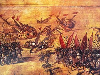 Cortes Burns the Ships